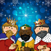 Three kings — Stock Vector