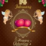 Valentine's Day Poster label ciocoolate — Stockvektor
