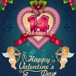 Valentine's Day Poster label — Vector de stock  #37540219