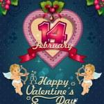 Valentine's Day Poster label — Stockvektor