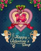 Etichetta poster di san valentino — Vettoriale Stock