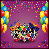 Carnival mask and balloon — Stock Vector