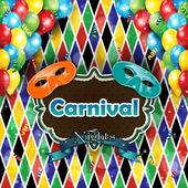 Carnival harlequin background — Stock Vector