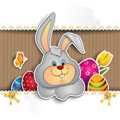 Bunny on cardboard — Stock Vector
