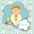 First communion boy — Stock Vector