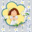 First communion girl — Stock Vector #46349521