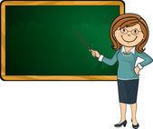 Profesor y pizarra — Vector de stock