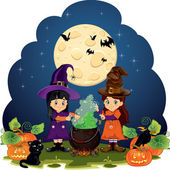 Witches and spells — Stock Vector