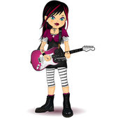 Rock Star Girl — Stock Vector