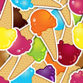 All ice cream flavors — Stock Vector
