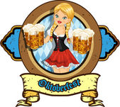 Beer girl — Stock Vector