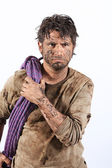 Survival man — Stock Photo