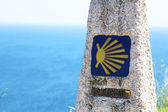 Camino de santiago marker — Stock Photo