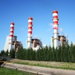 Power plan chimneys - Stock Photo
