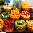 Tropical fruit stand — Stock Photo