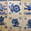 Tile pattern with flowers and birds  — Stock Photo