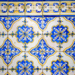 Floral tile pattern - closeup — Stock Photo