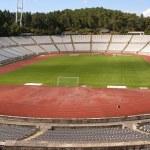 Empty soccer stadium — Stock Photo