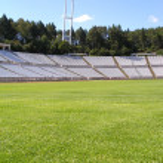 Empty soccer stadium — Stock Photo #18063499