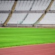 Empty soccer stadium — Stock Photo