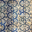 Ceramic floral tile pattern — Stock Photo