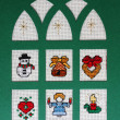 Cross stitch Christmas Card - Zdjęcie stockowe