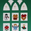 Cross stitch Christmas Card - ストック写真