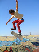 Skate park boy — Stock Photo