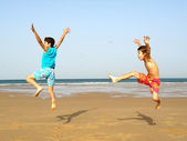 Boys jumping — Stock Photo
