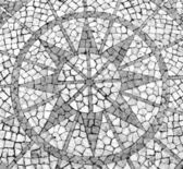 Mosaic in a Portuguese sidewalk — Stock Photo