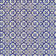 Seamless tile pattern of ancient ceramic tiles — Stock Photo #18108879