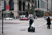Young man on segway — Stock Photo