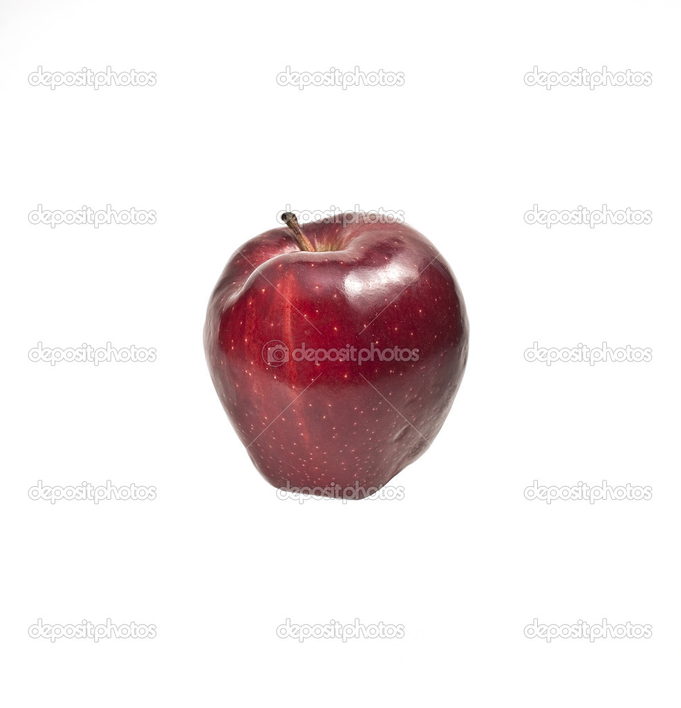 Red apple on a pure white background — Stock Photo #19599241