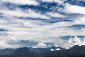 Clouds over the mountains — Stock Photo