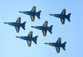Chicago Air and Water Show, US Navy Blue Angels — Stock Photo