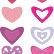 Valentine hearts — Stock Vector #19341893