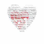 Valentine's Day heart lyrics — Stockvector