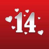 Happy Valentine's Day heart 14 — Stock Vector