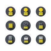 Financiën geld pictogram — Stockvector