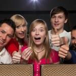 feliz en cine — Foto de Stock   #20095357