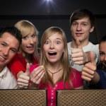 feliz en cine — Foto de Stock   #20095363