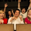 Stock Photo: Concert Audience cheering