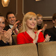 Theatre audience clapping and cheering — Foto Stock