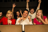 Concert Audience cheering — Stock Photo
