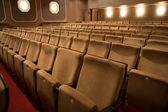 Boş bir tiyatro koltukları — Stok fotoğraf