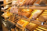 Bread in a bakery or baker's shop — Stock Photo