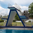 Diving platform at swimming pool — Stock Photo #30562771