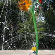 Стоковое фото: Water garden with trick fountains