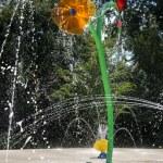 Water garden with trick fountains — ストック写真
