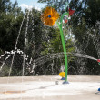 Stok fotoğraf: Water garden with trick fountains